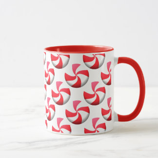 赤と白のはっか菓子 マグカップ