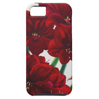 赤と白のアマリリス2008年 iPhone SE/5/5s ケース