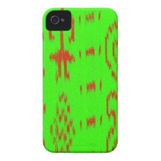 赤と白のイカットの設計 Case-Mate iPhone 4 ケース