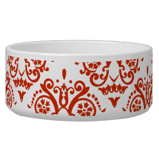 赤と白のエレガントなダマスク織