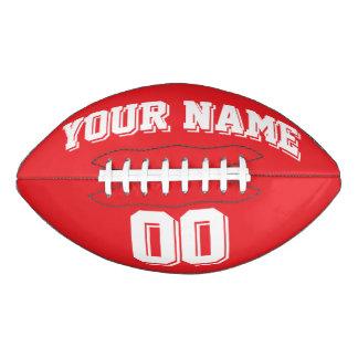 赤と白のカスタムなフットボール アメリカンフットボール