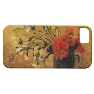 赤と白のカーネーションが付いているつぼ、ゴッホ iPhone SE/5/5s ケース