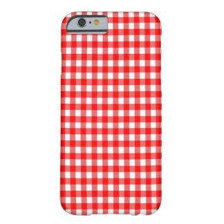 赤と白のギンガムの点検のデザイン BARELY THERE iPhone 6 ケース