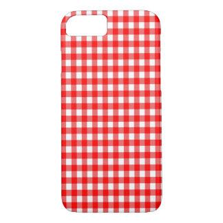 赤と白のギンガムの点検のデザイン iPhone 8/7ケース