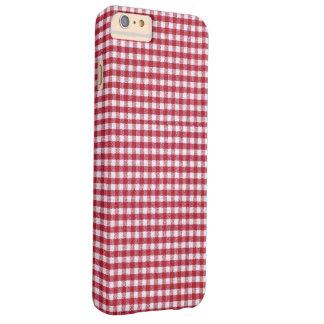赤と白のギンガムの点検 BARELY THERE iPhone 6 PLUS ケース