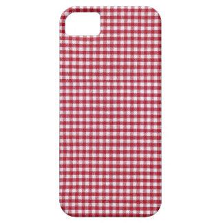 赤と白のギンガムの点検 iPhone 5 CASE