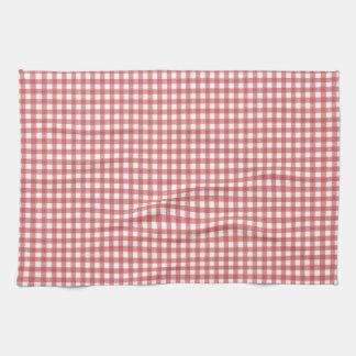 赤と白のギンガムタオル キッチンタオル