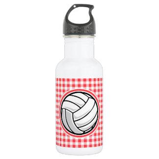 赤と白のギンガム; バレーボール ウォーターボトル