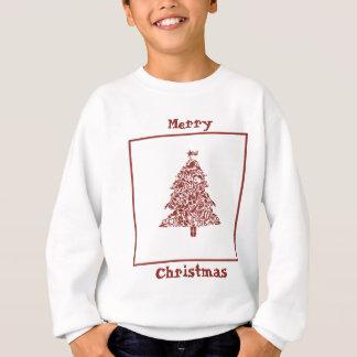 赤と白のクリスマス スウェットシャツ