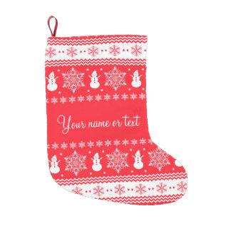 赤と白のクリスマス スモールクリスマスストッキング