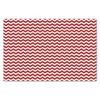 赤と白のシェブロンパターンチィッシュペーパー 薄葉紙