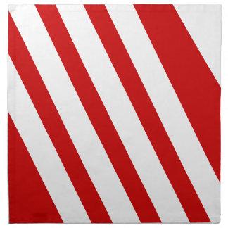 赤と白のストライプのなナプキン ナプキンクロス