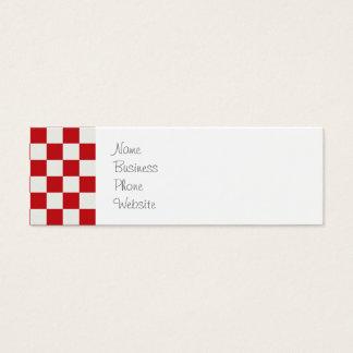 赤と白のチェック模様のパターン国BBQ色 スキニー名刺