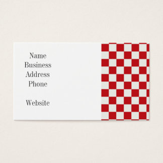赤と白のチェック模様のパターン国BBQ色 名刺