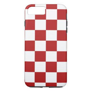 赤と白のチェック模様のパターンiPhone 8のプラスの場合 iPhone 8 Plus/7 Plusケース