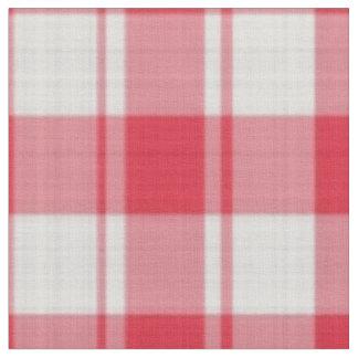 赤と白のチェック模様の格子縞パターン ファブリック