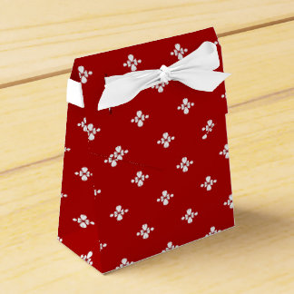 赤と白のデザインの好意箱 フェイバーボックス