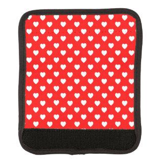 赤と白のハートパターンラゲージハンドルラップ スーツケース ハンドルラップ