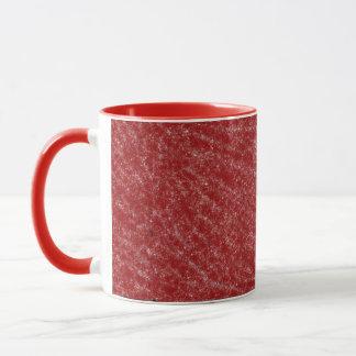 赤と白のマグ マグカップ
