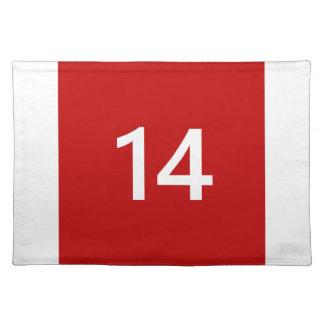 赤と白の伝説第14 ランチョンマット