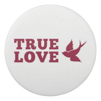 赤と白の本当愛および鳥 消しゴム