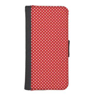 赤と白の水玉模様パターン フリップ IPHONE5ケース