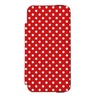 赤と白の水玉模様パターン INCIPIO WATSON™ iPhone 5 ウォレット ケース