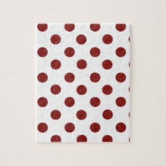 赤と白の水玉模様 ジグソーパズル