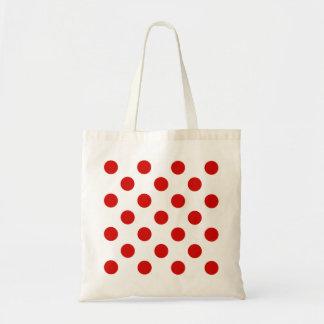 赤と白の水玉模様 トートバッグ