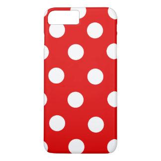 赤と白の水玉模様 iPhone 8 PLUS/7 PLUSケース