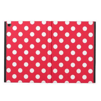 赤と白の水玉模様 POWIS iPad AIR 2 ケース