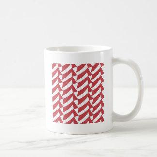 赤と白の点検 コーヒーマグカップ