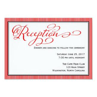 赤と白の結婚披露宴の明細カード 8.9 X 12.7 インビテーションカード