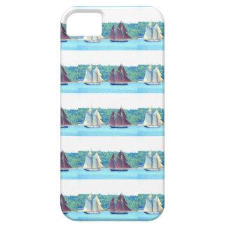 赤と白の航海されたスクーナー船 iPhone SE/5/5s ケース