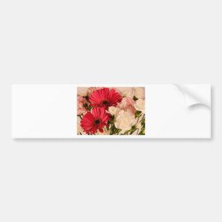 """""""赤と白の花束""""のコレクション バンパーステッカー"""