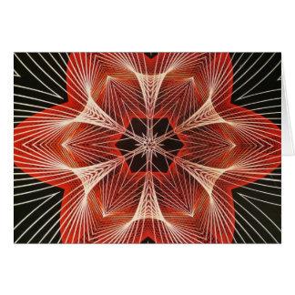 赤と白の蜘蛛の巣のフラクタルの芸術のギフト カード