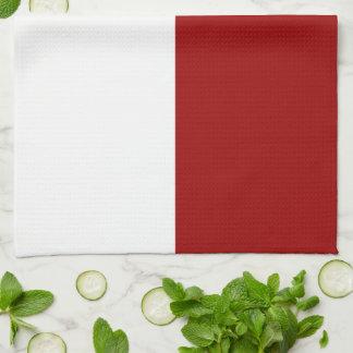 赤と白の長方形の台所タオル キッチンタオル