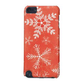 赤と白の雪片パターン iPod TOUCH 5G ケース