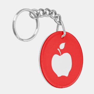 赤と白のApple キーホルダー