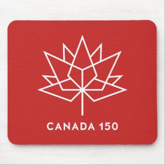 赤と白カナダ150の役人のロゴ- マウスパッド