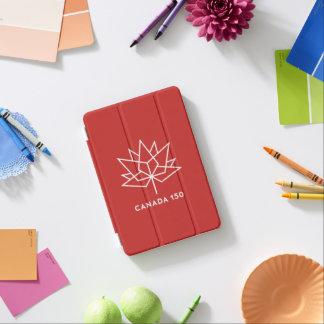 赤と白カナダ150の役人のロゴ- iPad MINIカバー