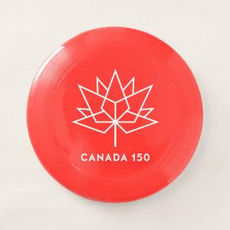 赤と白カナダ150の役人のロゴ- Wham-Oフリスビー