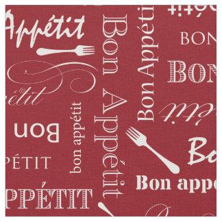 赤と白グルメ向きの台所糖菓Appetit ファブリック