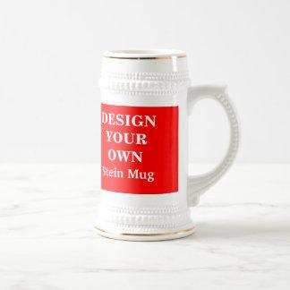 赤と白ステインのあなた自身のマグを-設計して下さい ビールジョッキ