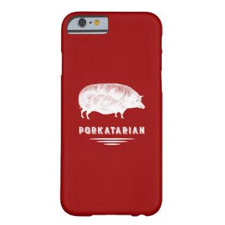 赤と白ベーコンの恋人のPorkatarianのヴィンテージのブタ Barely There iPhone 6 ケース