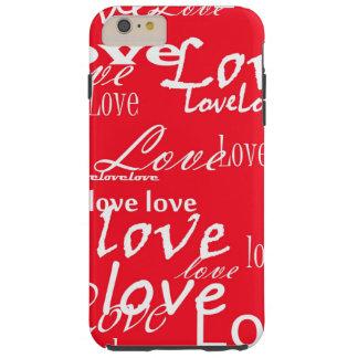 赤と白愛の単語 TOUGH iPhone 6 PLUS ケース