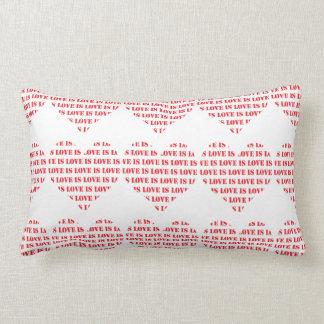 赤と白愛は愛ハートパターンです ランバークッション