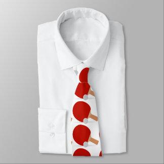 赤と白sportly人々のための卓球 ネクタイ