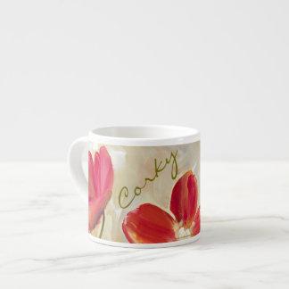 赤によってはエスプレッソのコップが開花します エスプレッソカップ