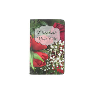赤によってはMoleskine名前入りな花のジャーナルが開花します ポケットMoleskineノートブック